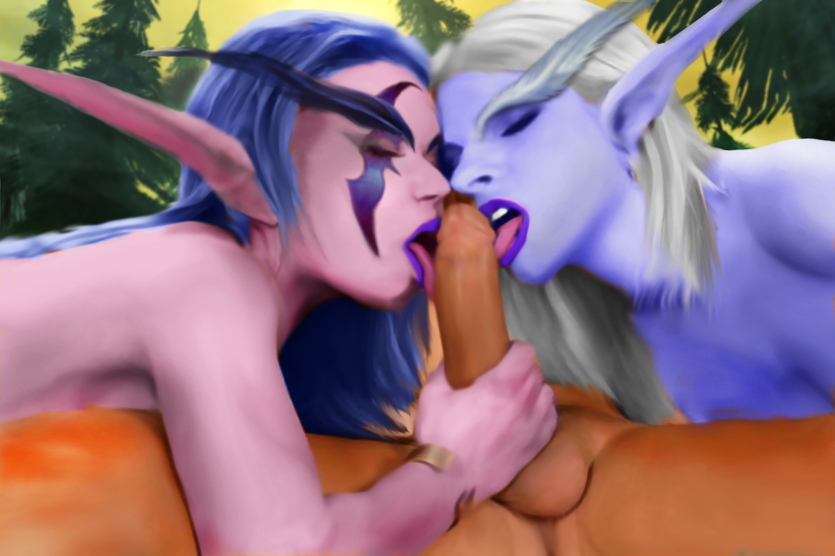 Blood elfs giving a blowjob naked scenes
