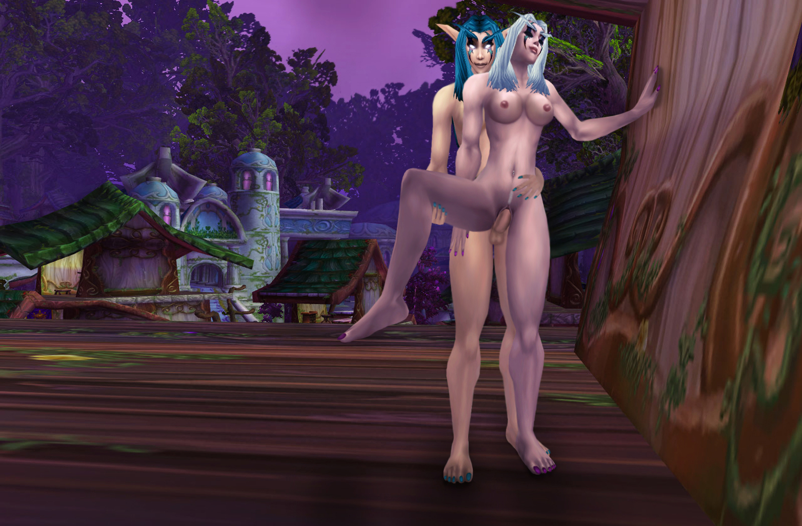 Wow night elf naked girl fucking videos