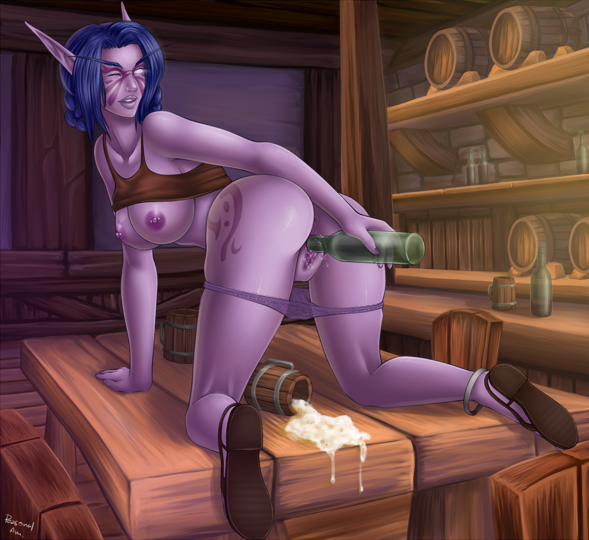 World of Warcraft nightelf porn xxx fun sister