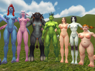 Warlords of Draenor models - shaved version