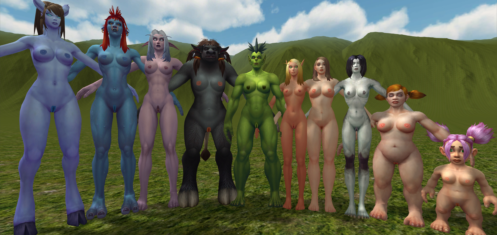 Naked world of warcraft girls having sex  erotic vids